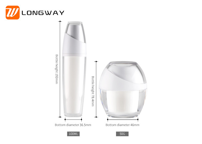 Popular Plastic Cosmetic Serum Bottles , Empty Cosmetic Bottle Refillable Set