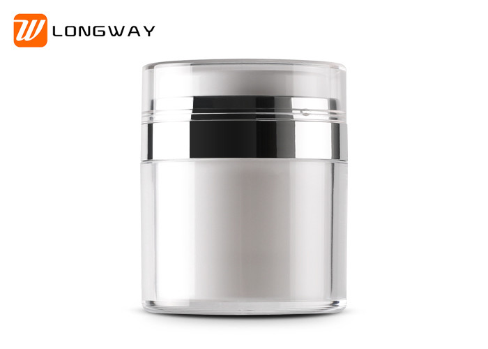 High End Acrylic Airless Pump Jar , 30g 50g Airless Cosmetic Containers