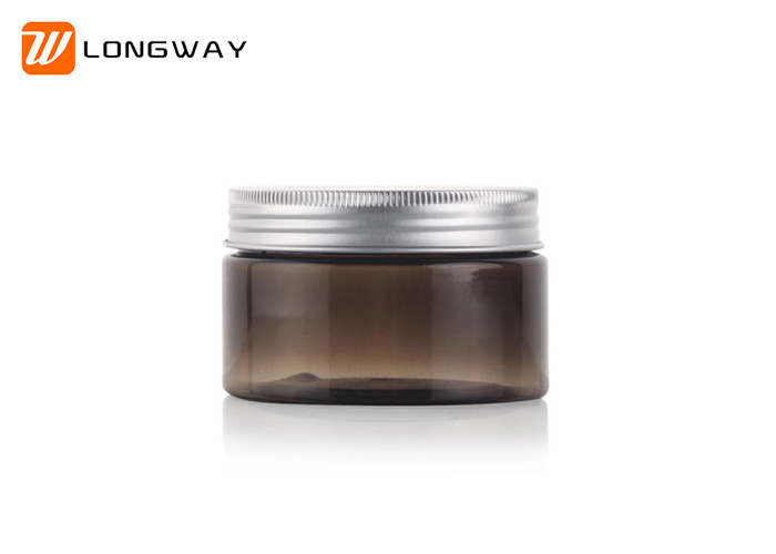 Plastic PET Cream Jar Amber Clear 20g with Aluminum Cap for Cosmetic Packaging
