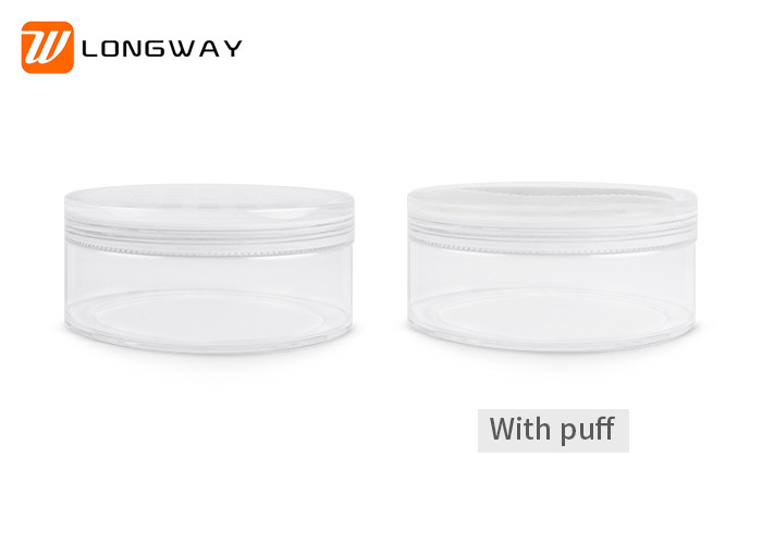 Round Face Powder Container / Makeup Sifter Jars With Puff 20g 50g Capacity